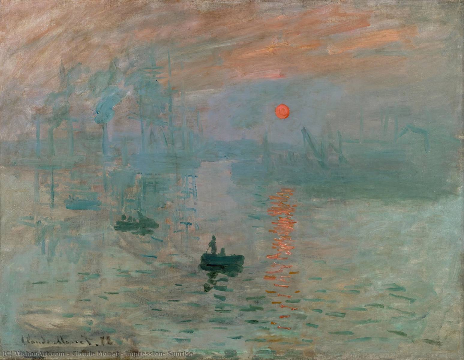 Buy Museum Art Reproductions | Impression, Sunrise by Claude Monet | AllPaintingsStore.com
