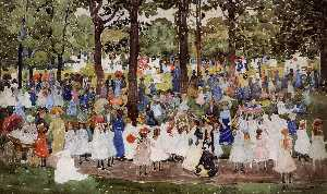Maurice Brazil Prendergast - May Day, Central Park (also known as Central Park or Children in the Park)