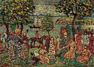 Maurice Brazil Prendergast - Fantasy (also known as Landscape with Figures)