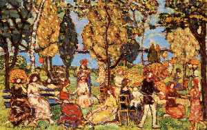 Maurice Brazil Prendergast - In the Park (also known as The Promenade)
