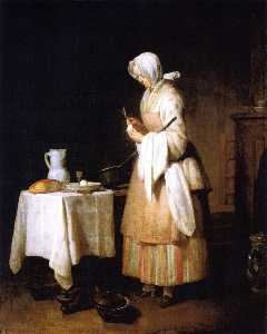 Jean-Baptiste Simeon Chardin - Meal for a Convalescent (also known as The Attentive Nurse)