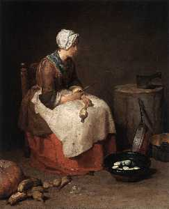 Jean-Baptiste Simeon Chardin - The Kitchen Maid
