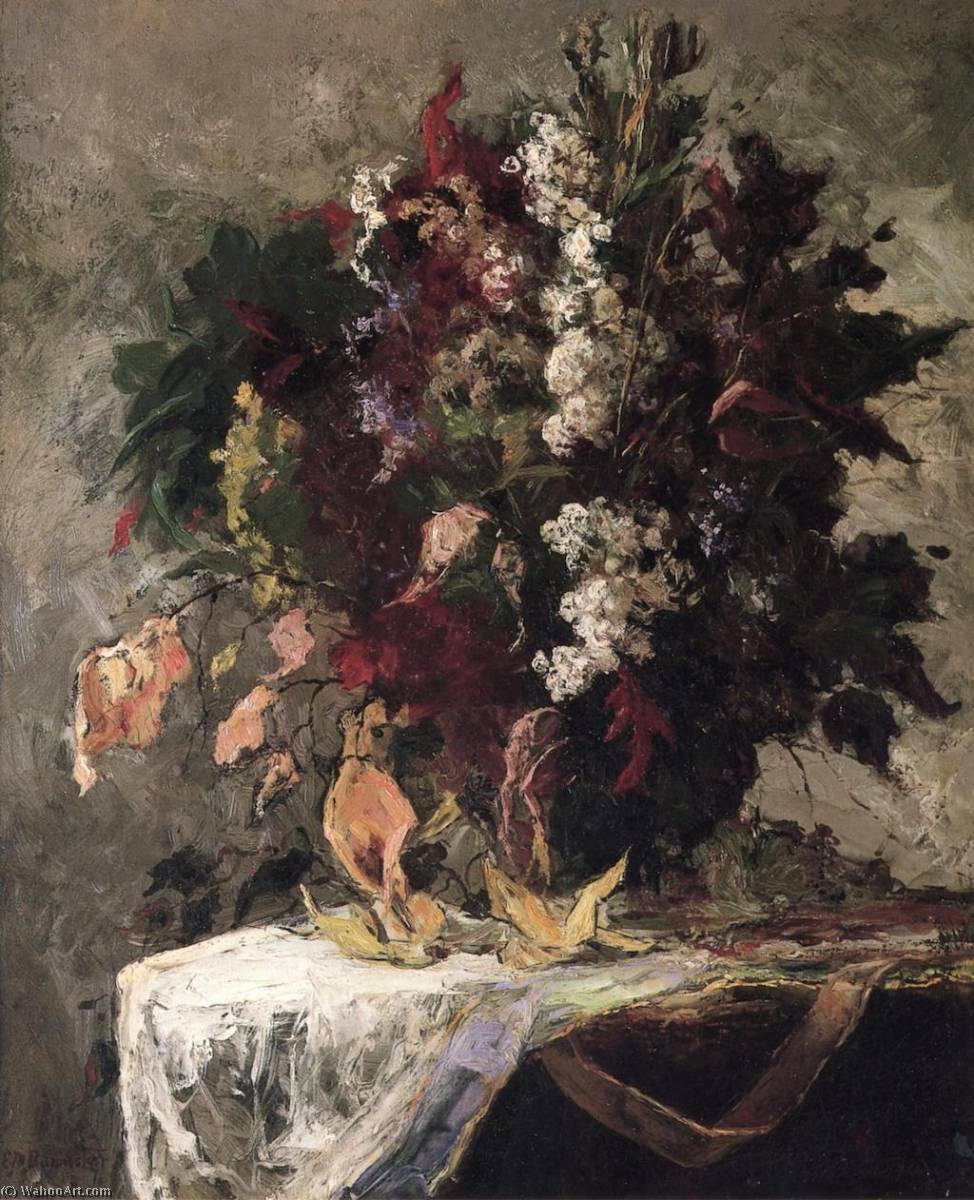 Order Art Reproductions | Floral Still Life by Edward Mitchell Bannister | AllPaintingsStore.com
