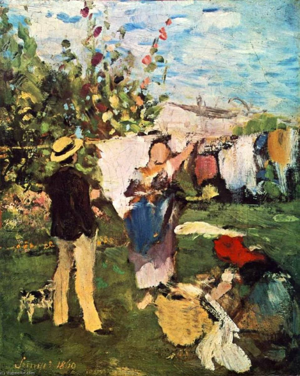 famous painting Clothes Drying of Pal Szinyei Merse