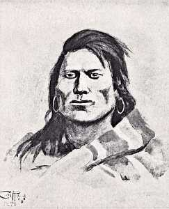 Charles Marion Russell - Plains Indian Brave (Cree ), (painting)