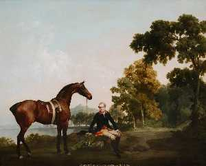 George Stubbs - Lord Clanbrassil with Hunter Mowbrary