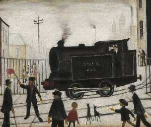 Lawrence Stephen Lowry - Level Crossing
