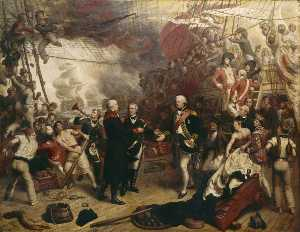 Samuel Drummond - Admiral Duncan Receiving the Sword of the Dutch Admiral de Winter at the Battle of Camperdown, 11 October 1797