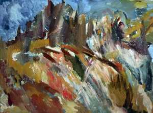 David Garshen Bomberg - Mount Saint Hilarion and the Castle Ruins