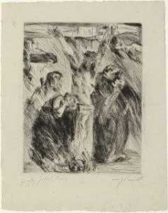 Lovis Corinth (Franz Heinrich Louis) - Crucifixion (After the altarpiece at Tölz) for the portfolio Compositions (Kompositionen)