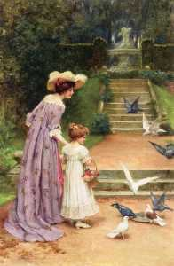 George Sheridan Knowles - Feeding the Doves