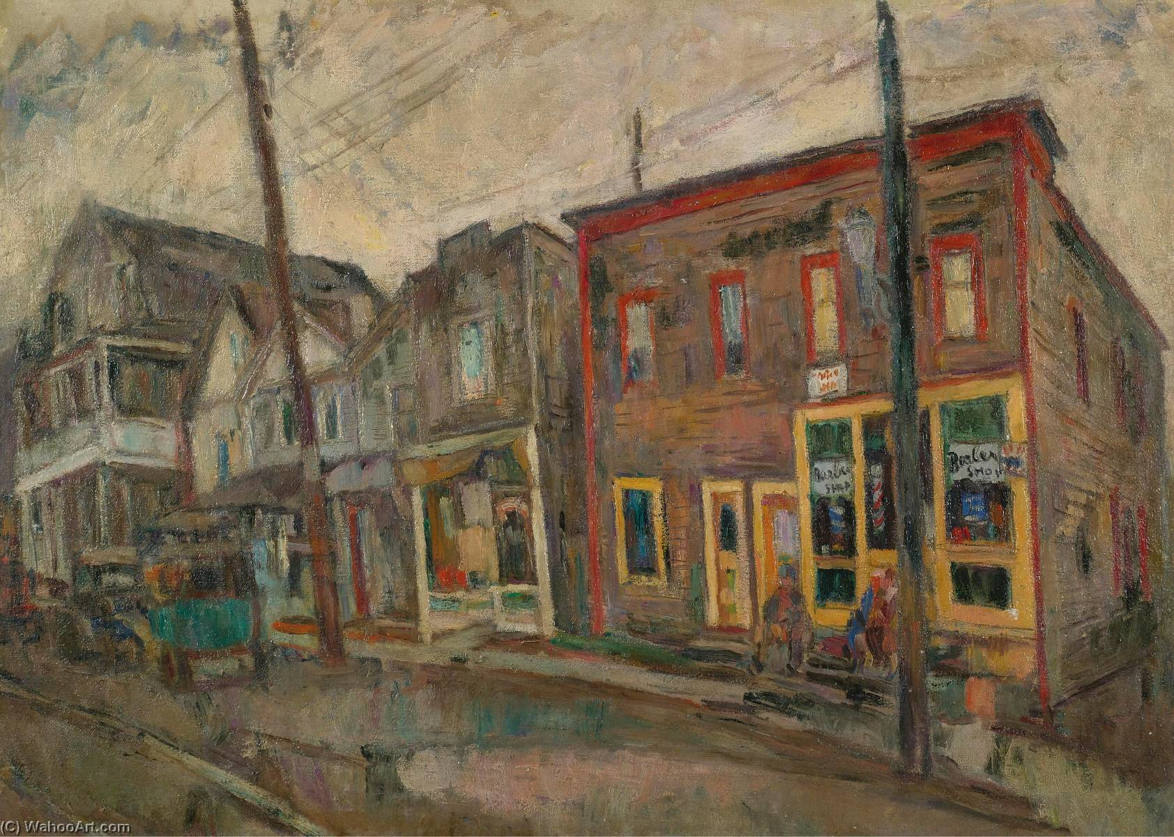 famous painting Street in the Bronx of Abraham Manievich