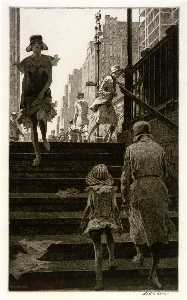 Martin Lewis - Subway Steps