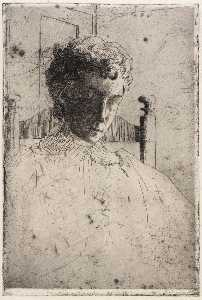 Julian Alden Weir - Woman Looking Down