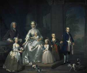 Jeremiah Davison - James Douglas (1702–1768), 14th Earl of Morton, and his Family