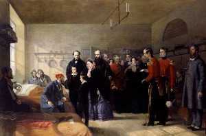 Jerry Barrett - Queen Victoria's First Visit to her Wounded Soldiers