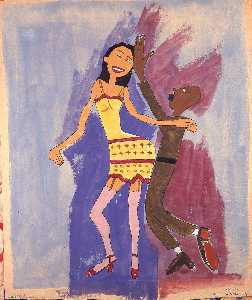 William Henry Johnson - Dancer with Soldier Boy