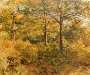 William Linnell - Woodland Scene