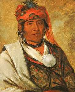 George Catlin - Ye hów lo gee, The Cloud, a Chief