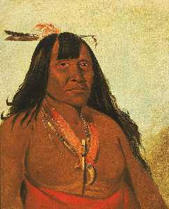 George Catlin - Bón són gee, New Fire, a Band Chief
