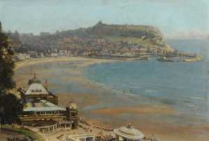 Frederick William Elwell - Scarborough from the Spa, North Yorkshire