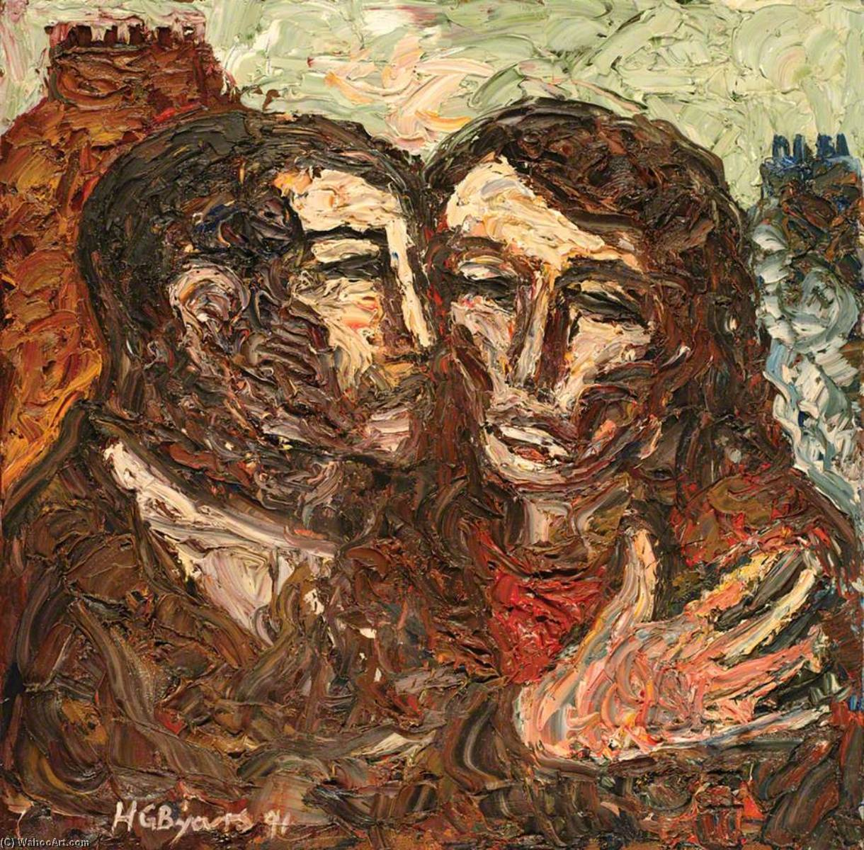 famous painting Embrace of Hugh Gerard Byars