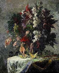 Edward Mitchell Bannister - Untitled (floral still life)