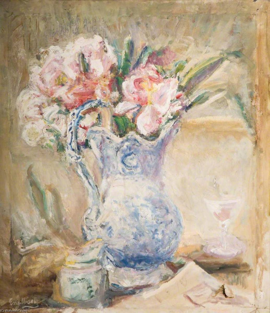 famous painting Peonies of Florence Engelbach