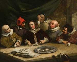 Thomas Robson - Columbus and the Egg (copy after William Hogarth)