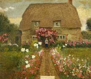 Kate Allen Tryon - An Old Wiltshire Cottage