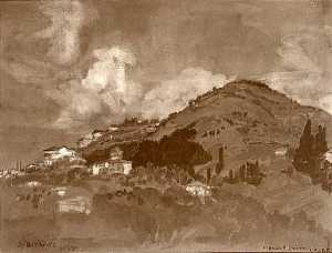 Arthur Bowen Davies - Fiesole from Cereri, (painting)