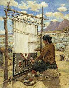 Carl Moon - Navajo Weaver