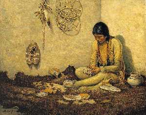 Carl Moon - A Moccasin Maker