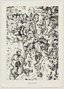 Jean Philippe Arthur Dubuffet - Mud and Ravines (Boue et ravines) from the portfolio Theater of the Earth (Théâtre du sol) from Phenomena (Les Phénomènes)