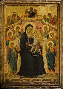 Segna Di Buonaventura - Madonna and Child with Nine Angels