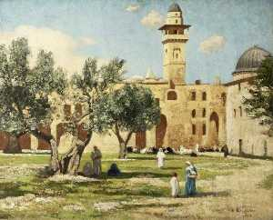Victor Wellesley - Temple Area in Jerusalem