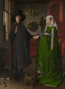 Jan Van Eyck - Portrait of Giovanni( ) Arnolfini and his Wife