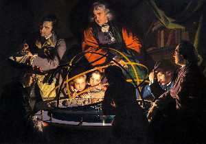 Joseph Wright Of Derby - Untitled, known as A Philosopher Giving that Lecture on the Orrery, in which a Lamp is put in place of the Sun or The Orrery