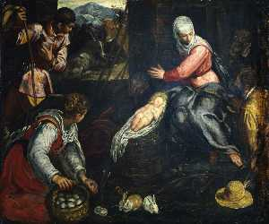 Jacopo Tintoretto - Adoration of the Shepherds