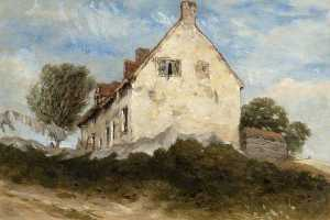 David Cox The Elder - A Cottage on a Hillside